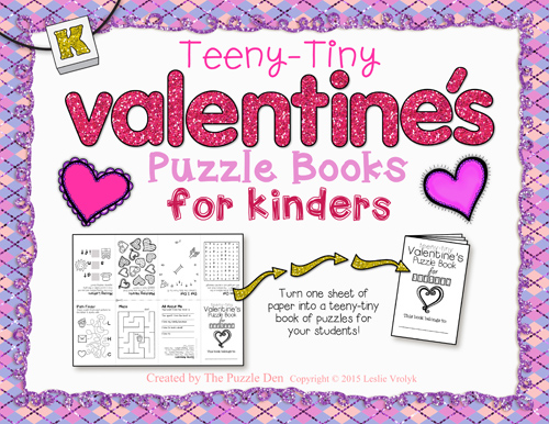 Teeny-Tiny Valentine's Puzzle Book