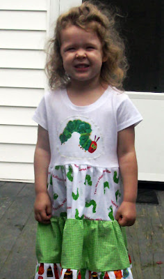 Hungry Caterpillar dress