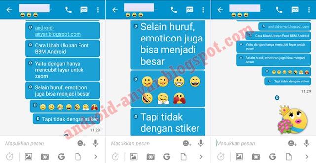 Cara Ganti Font BBM Android