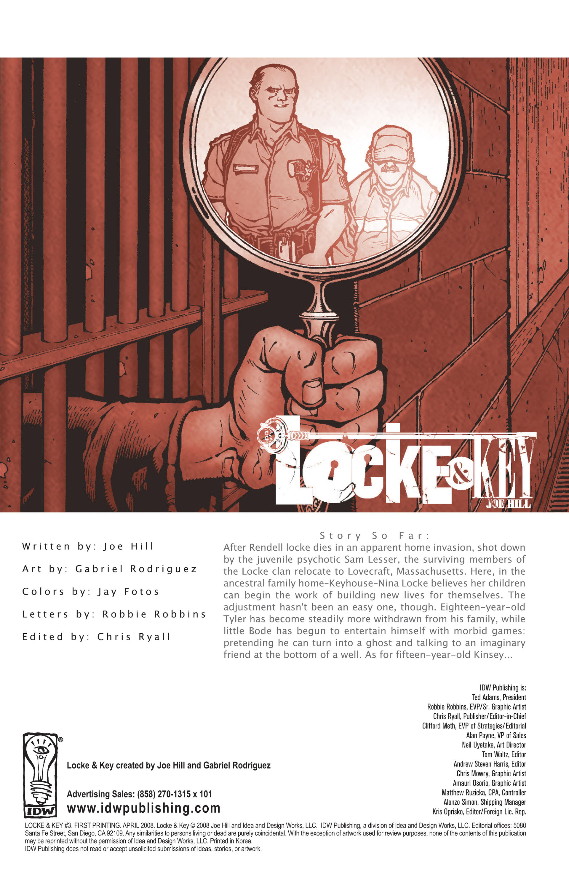 Locke & Key (2008) Issue #3 #3 - English 3