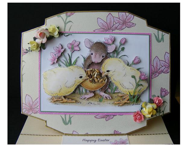 joanna sheen house mouse flower power decoupage