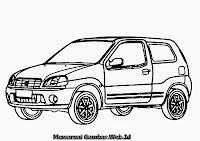 Mewarnai Gambar Mobil Suzuki Ignis