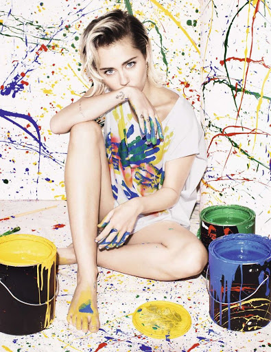 Miley Cyrus Elle UK magazine October 2015 photo shoot