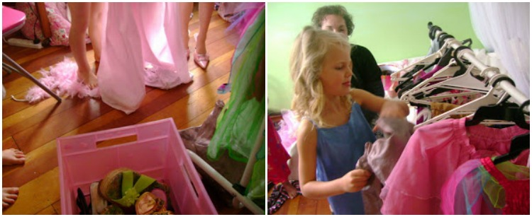 Fancy Nancy Party - dressing up