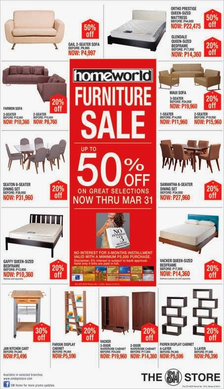 Manila shopper sm homeworld furniture our home living for Home decor sales online