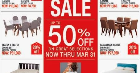 Manila shopper sm homeworld furniture our home living room sale mar 2014 Our home furniture prices philippines
