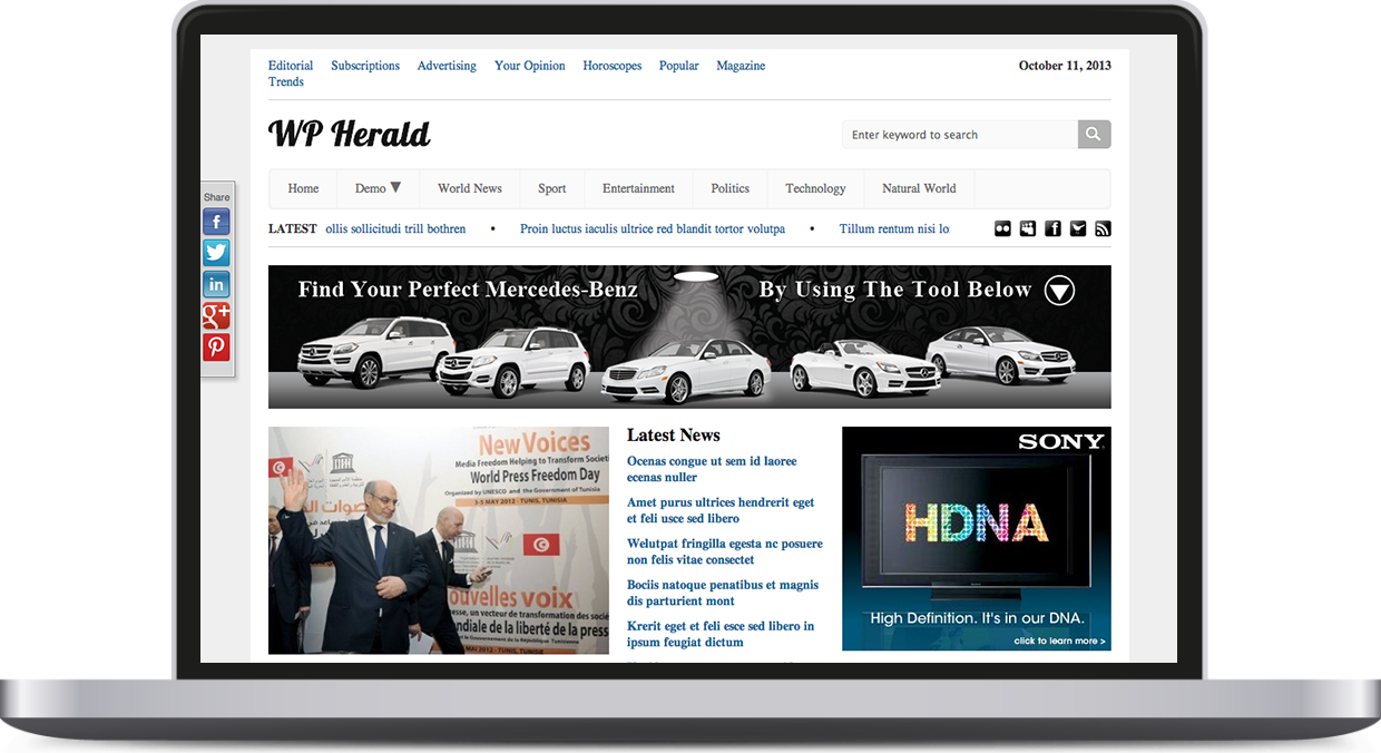 WP Herald – Responsive News Theme
