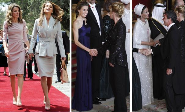 Queen Letizia And Queen Rania