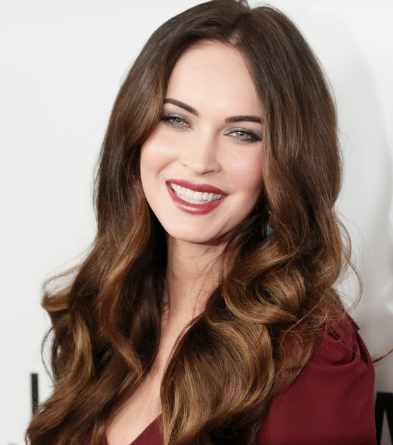 Megan Fox with red lips