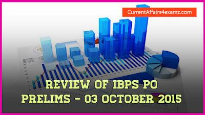 IBPS PO Prelims 3 October 2015