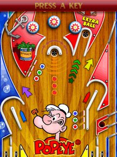 Popeye Pinball 240x320 Touchscreen,games for touchscreen mobiles,java touchscreen games