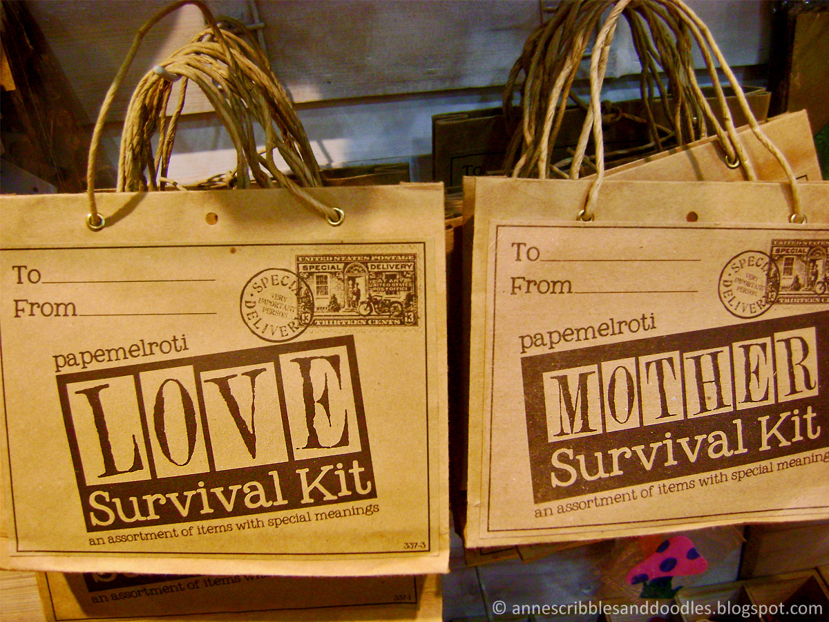 Papemelroti Gift Shop: Survival Kit | Anne's Scribbles and Doodles