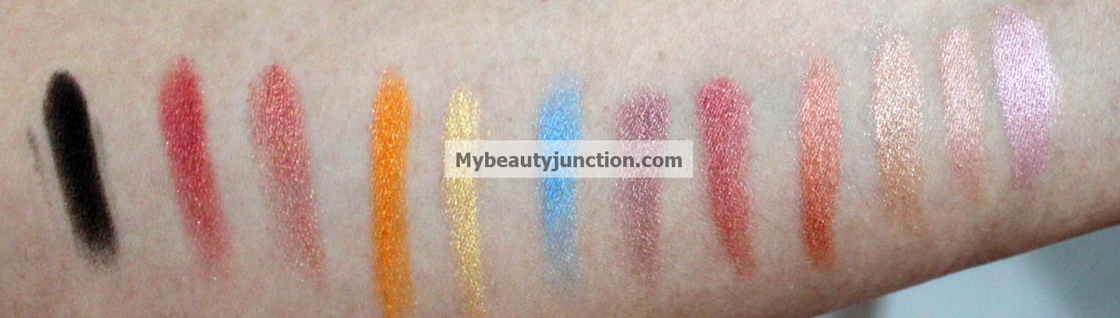 Sleek iDivine Sunset eyeshadow palette swatches and review