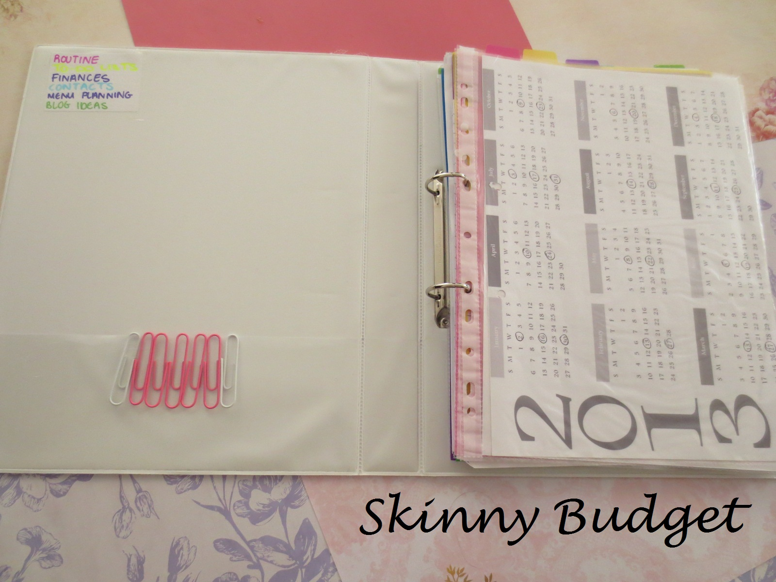 skinny budget diy family planner time management binder