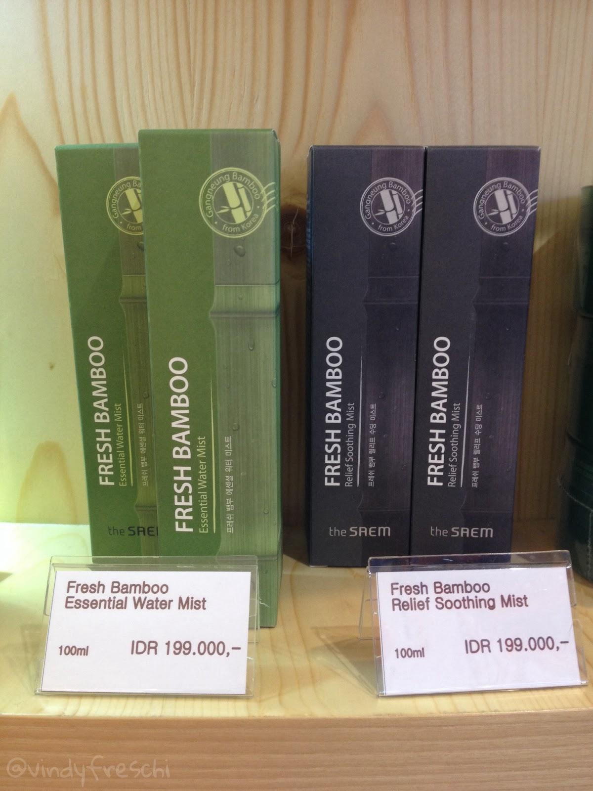 lebih disukai adalah varian Fresh Bamboo Essential Water Mist Water mist ini bisa digunakan untuk wajah dan tubuh Khasiatnya sama seperti Soothing