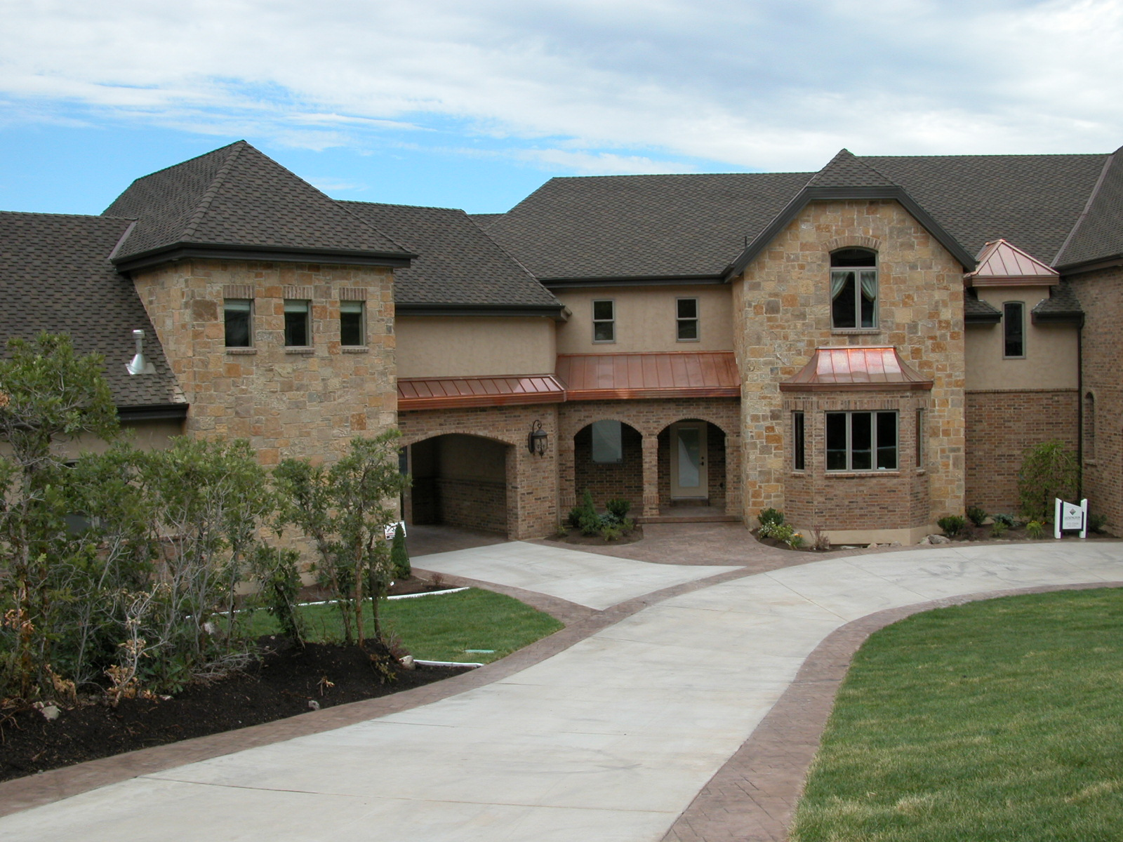 Brick stone combinations homes Stucco modular homes