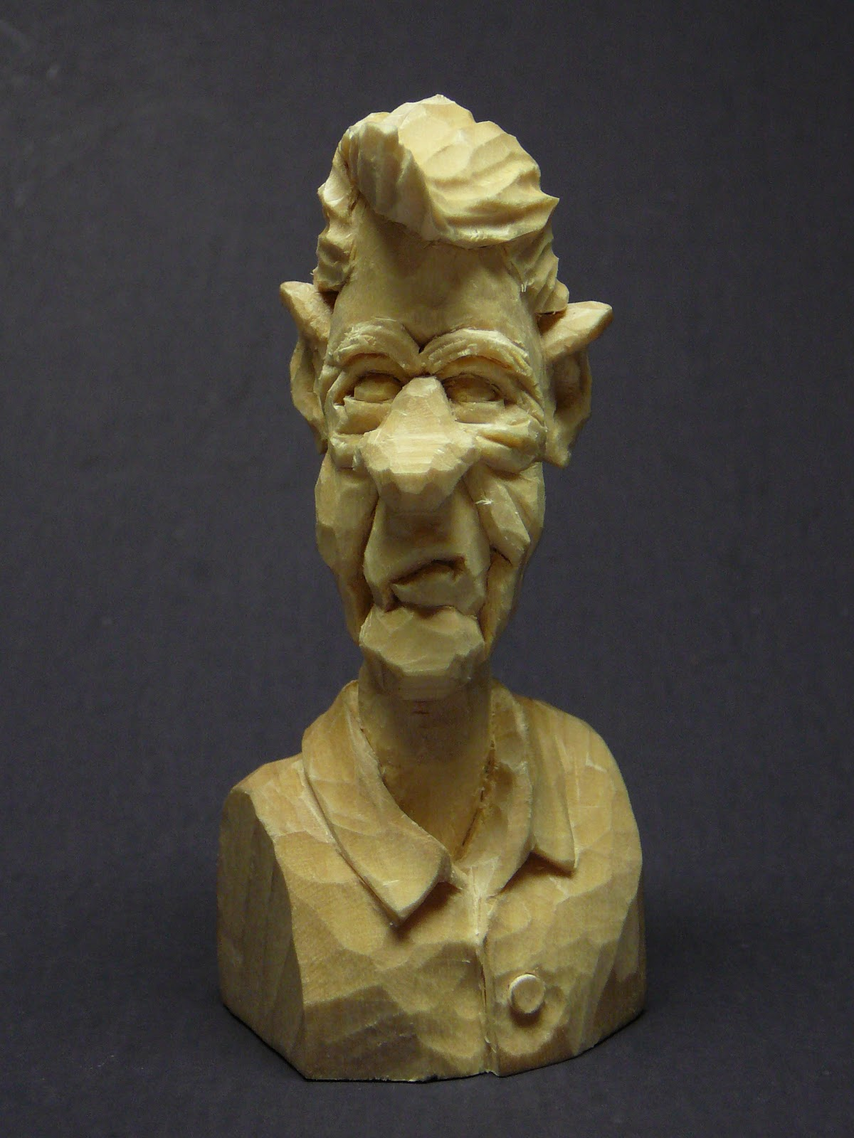 Caricature whittlings building character