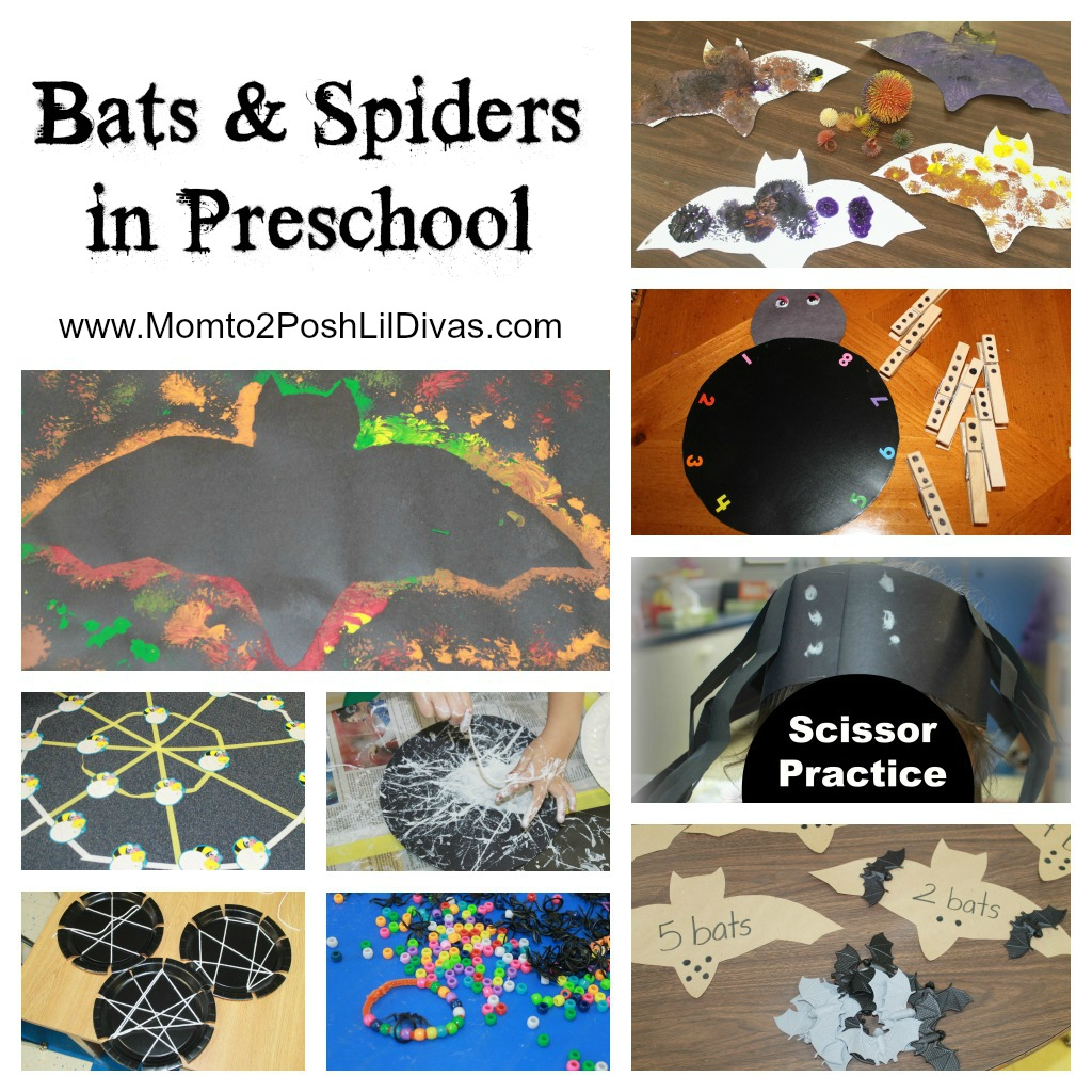 mom to 2 posh lil divas spiders and bats in preschool