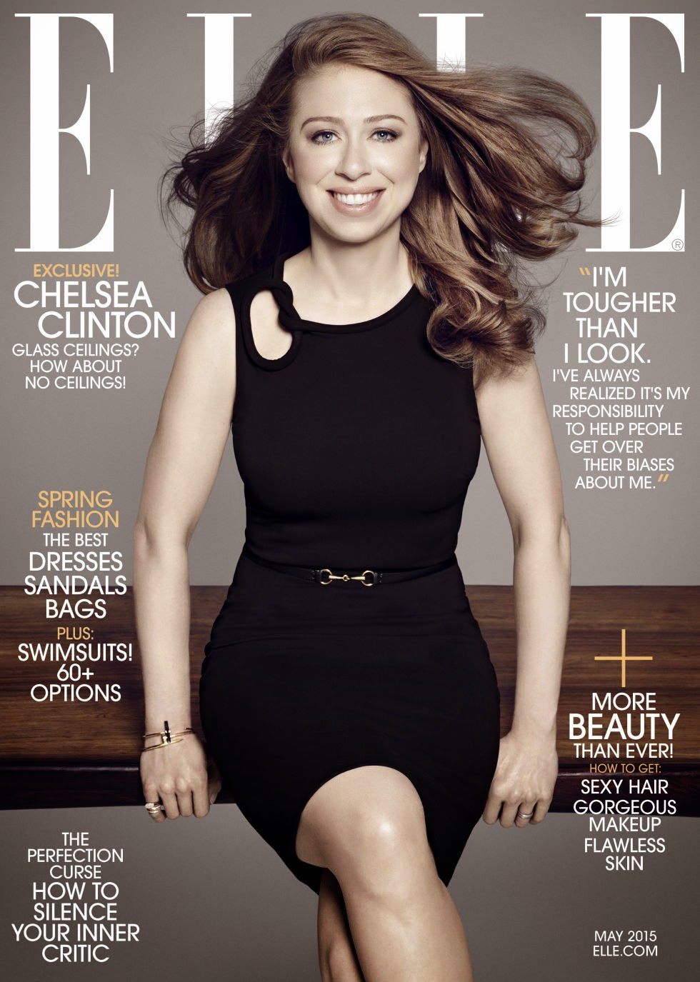 Mother Hillary Clinton @ Chelsea Clinton - Elle US, May 2015