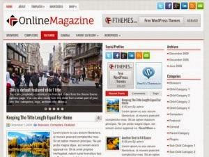 OnlineMagazine - Free Wordpress Theme