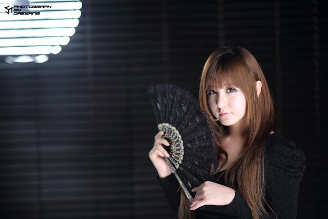 3 Ryu Ji Hye in Black-very cute asian girl-girlcute4u.blogspot.com