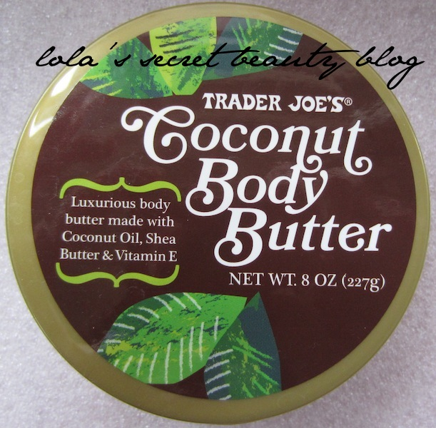 lola 39 s secret beauty blog trader joe 39 s coconut body butter review. Black Bedroom Furniture Sets. Home Design Ideas