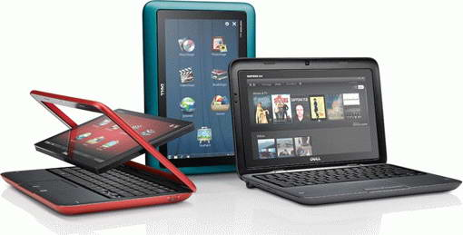 Dell Inspiron Duo convertible tablet netbook images