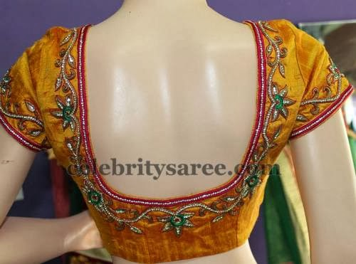 Silver Work Saree Blouses