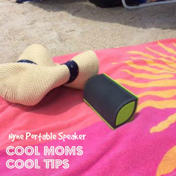 cool moms cool tips nyne portable speaker at beach