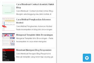 Cara Membuat Tombol Back to Top Untuk Blog