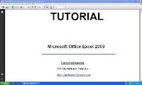 Ms Excel Tutorial 2003.