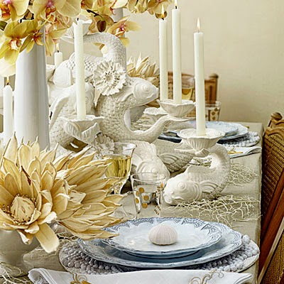 Coastal Living Thanksgiving tablescape