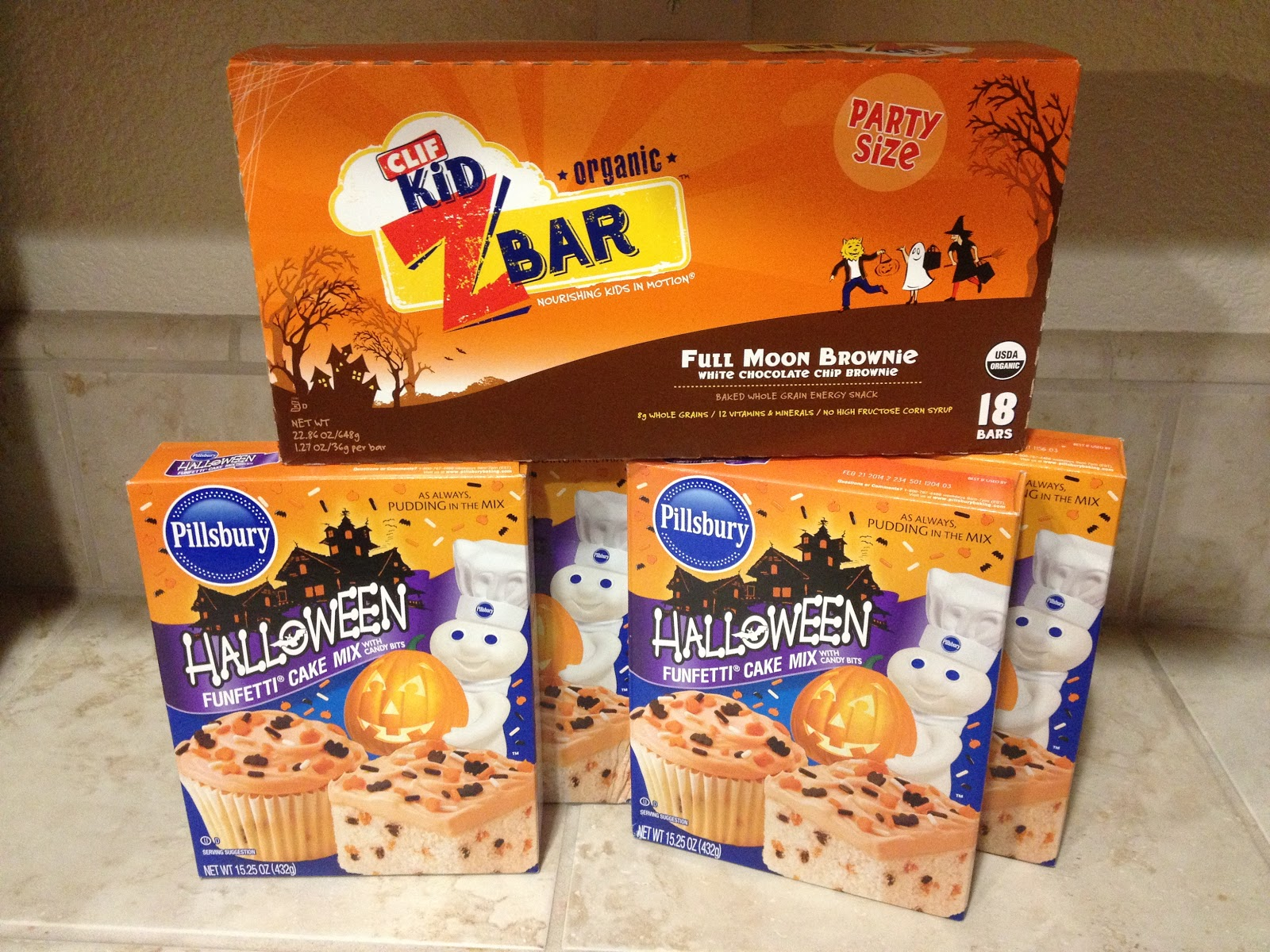 i grabbed an 18 count box of kidz clif bars for just 4 that works out to be just 020 per bar i also thought the pillsbury halloween funfetti cake