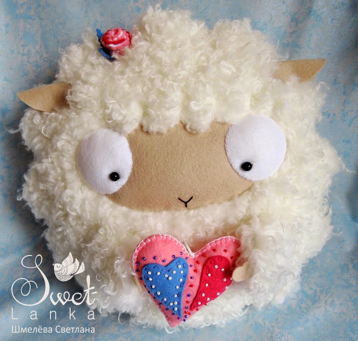 овечка с сердцем