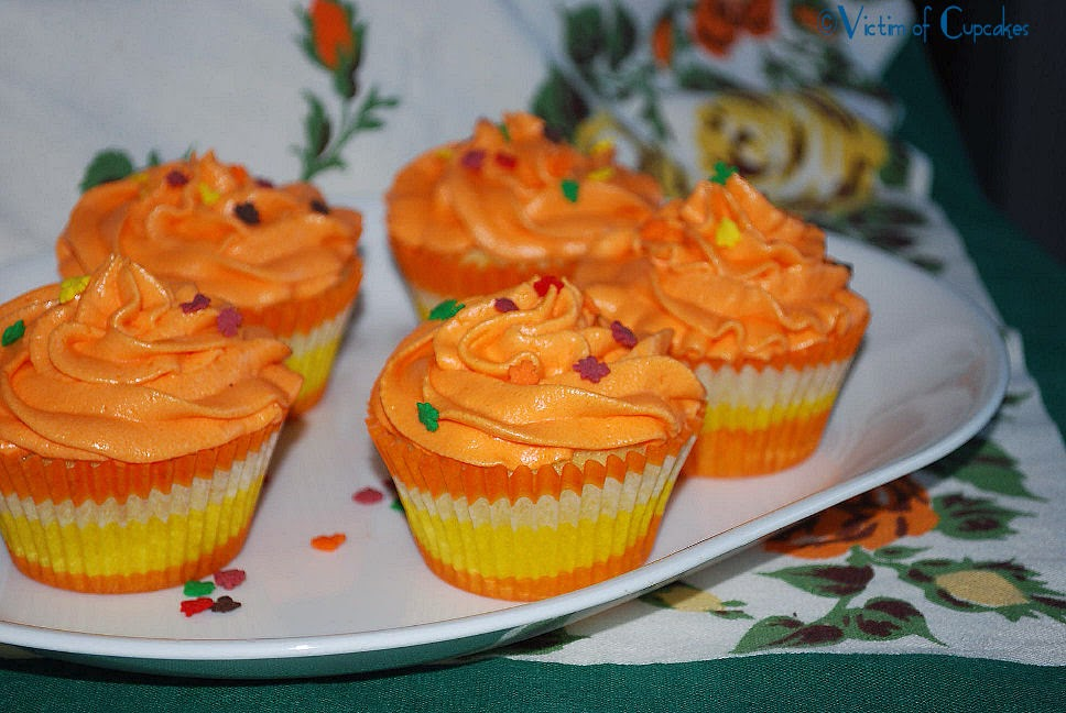 Orange Cupcakes decorated for fall