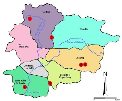Map of Andorra Region Country