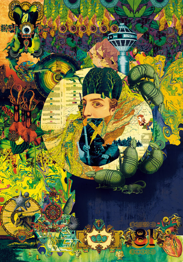 Luis Toledo psychedelic collage