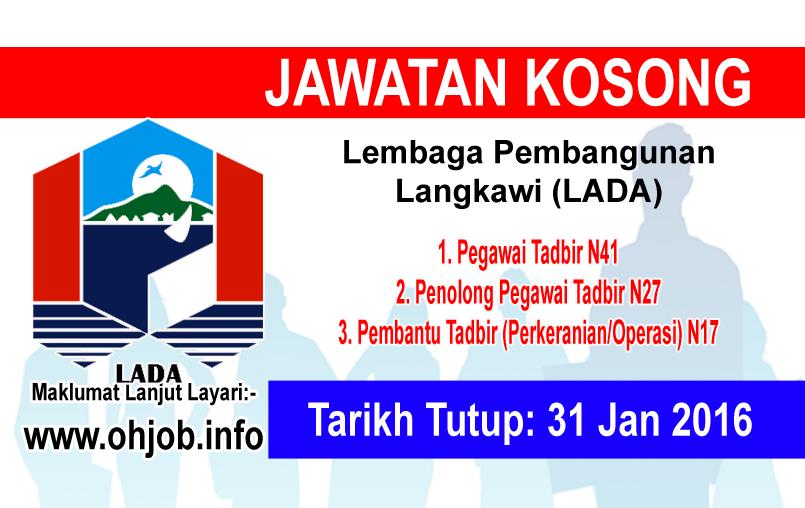 Jawatan Kerja Kosong Lembaga Pembangunan Langkawi (LADA) logo www.ohjob.info januari 2016
