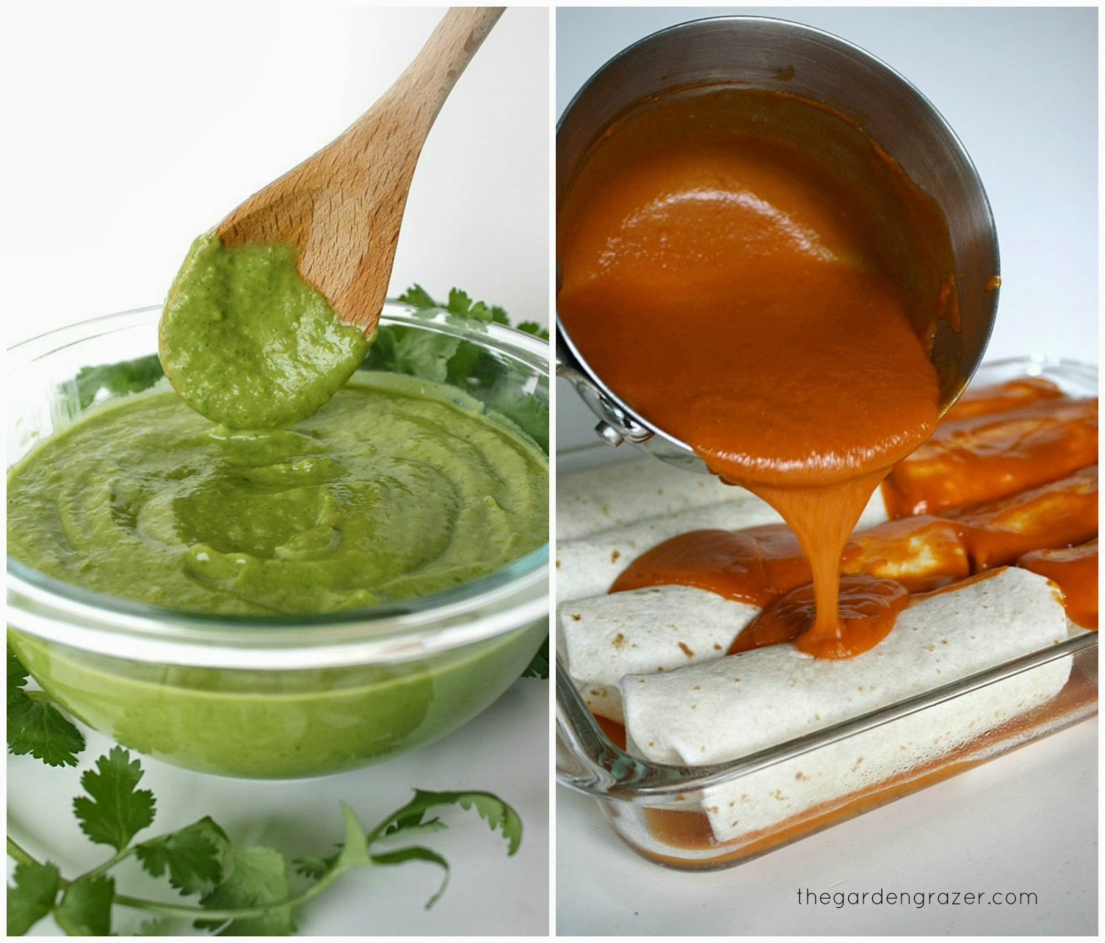 homemade enchilada sauces enchilada sauce pictured above right avocado ...