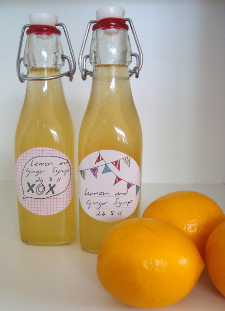 mousehouse: lemon and ginger syrup
