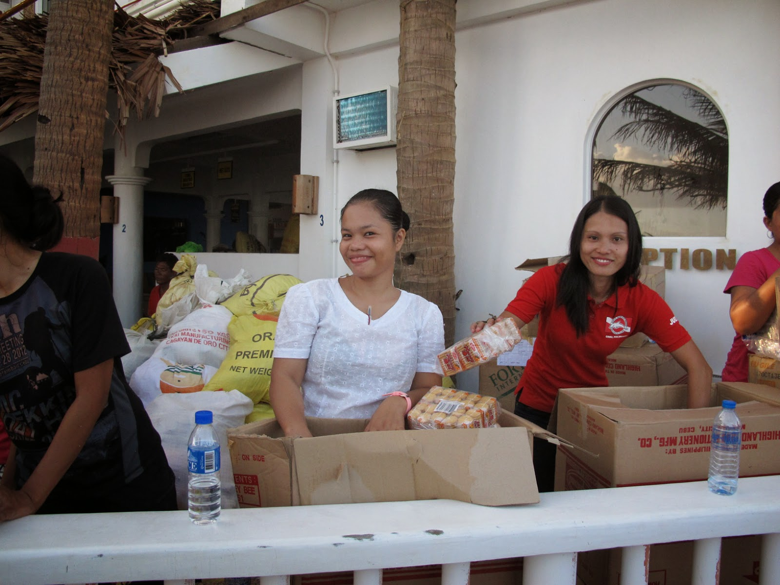 One of the distributions together with the Red cross