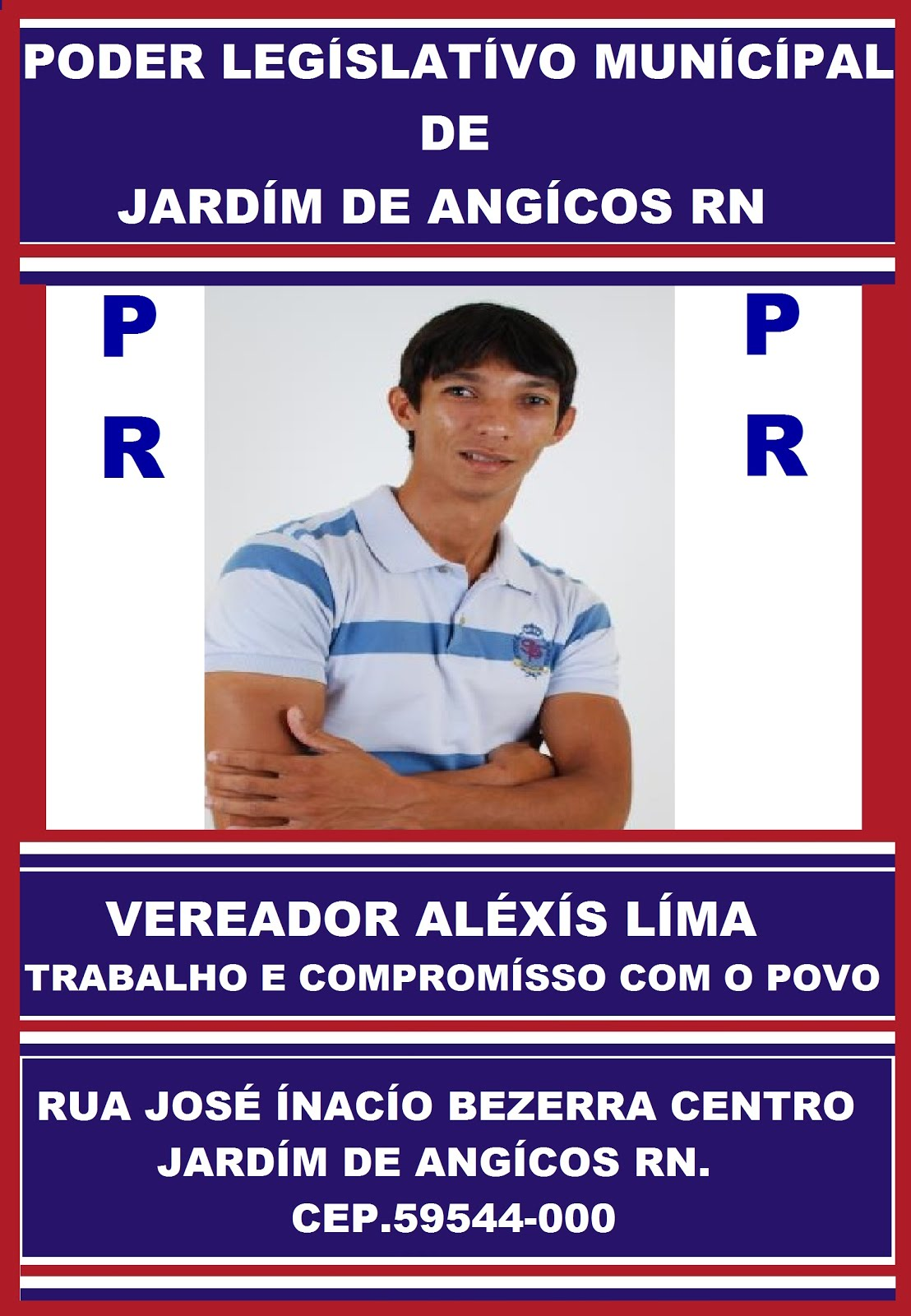 VEREADOR ALÉXIS LIMA JARDIM DE ANGICOS.
