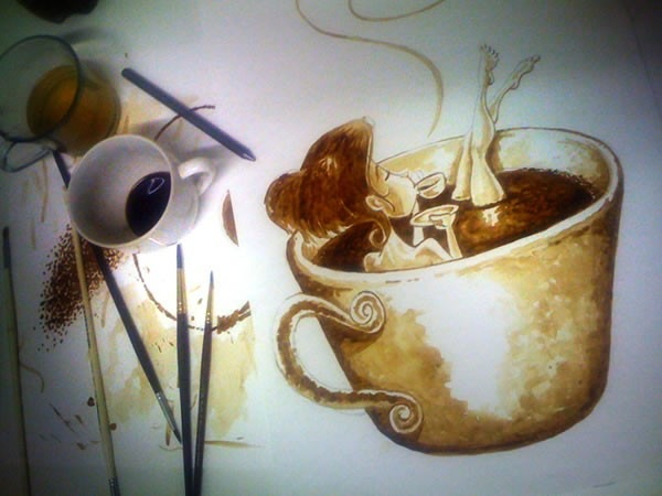 الرسم بمشروب القهوة Coffee Paintings image048-797484.jpg
