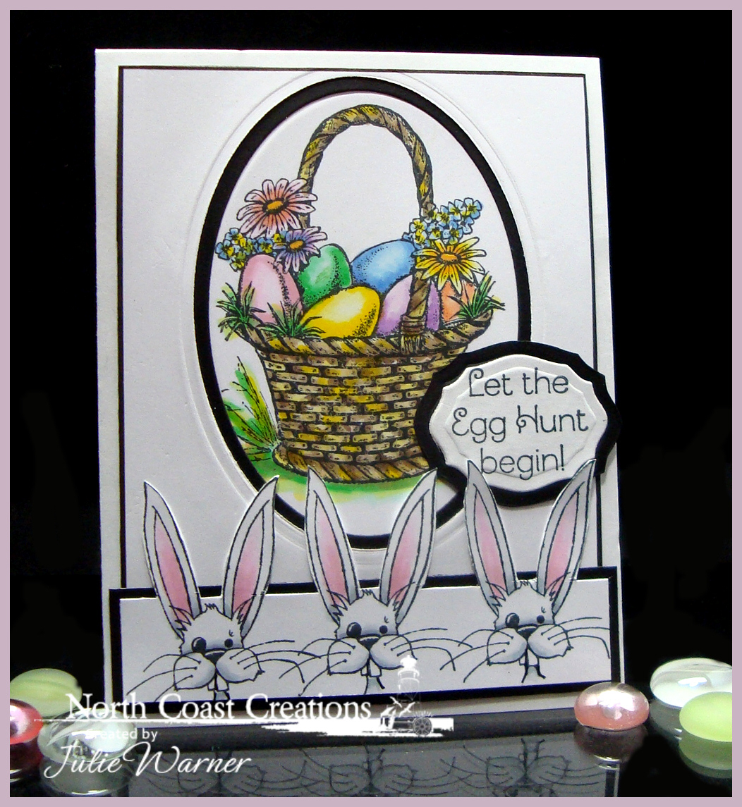 Stamps - North Coast Creations Easter Basket, Gardening Rini, ODBD Elegant Ovals Die