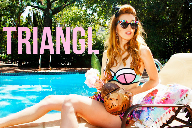 Actress, Singer, Model @ Dani Thorne - Triangl Swimwear photoshoot