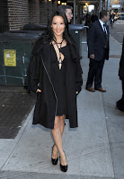 Lucy Liu at The Late Show with David Letterman
