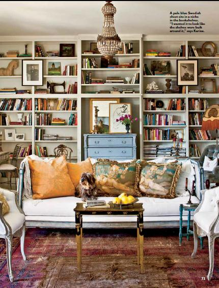 Our Family Room With Thelma One Of My Twin Wire Haired Dachshunds Her Sister Louise Was Under The Antique Daybed Which I Use As A Sofa