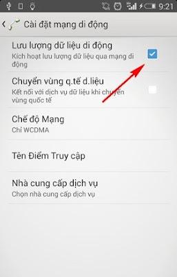 Cách bật/tắt 3G Mobifone trên Android