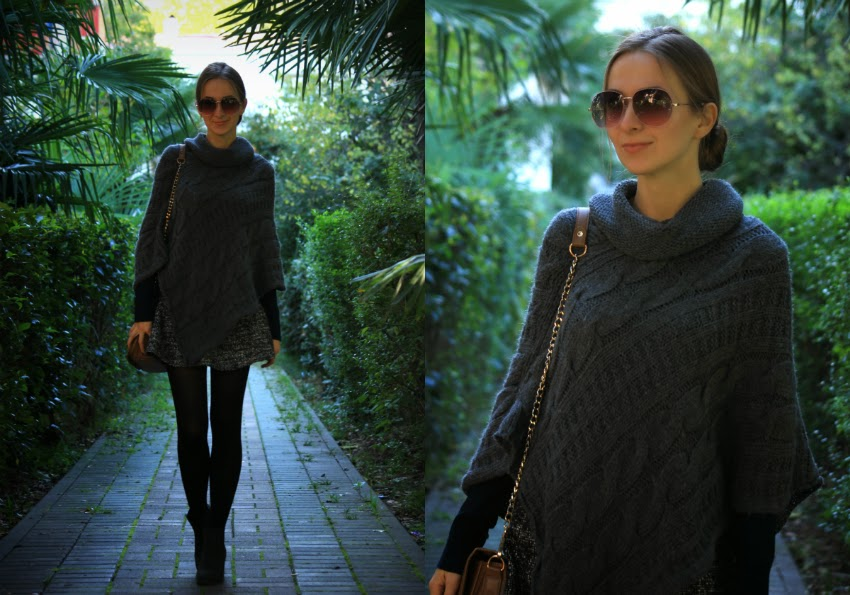 Grey poncho fall 2014 sochi
