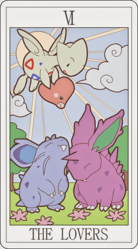 Pokemon Tarot - The Lovers